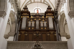 Interior the old Cathedral in Zamosc, Poland. Royalty Free Stock Photos