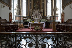Interior the old Cathedral in Zamosc, Poland. Stock Photo