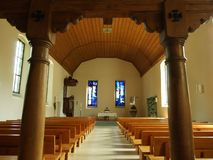 The interior of the old chapel in Kreuzlingen. Canton of Thurgau, Switzerland royalty free stock image