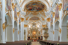 Interior of Old Chapel in Regensburg, Germany Stock Photos