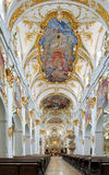 Interior of Old Chapel in Regensburg, Germany Royalty Free Stock Images