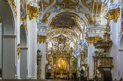 Interior of Old Chapel, Regensburg, Germany Stock Photos