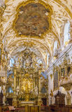 Interior of Old Chapel, Regensburg, Germany Stock Photography