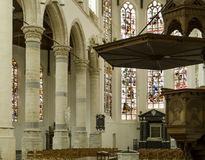 Interior of Old Church Delft Royalty Free Stock Photo