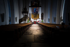 Interior of old church in Gdansk, Poland, Europe. Stock Image