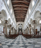 Interior of an old church with marble columns Stock Photo