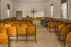 Interior of an Old Church Royalty Free Stock Photos