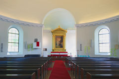 Interior of the Old City Lutheran Church, Hameenlinna Royalty Free Stock Photos
