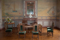 Interior of old classic civil wedding house in french Royalty Free Stock Images