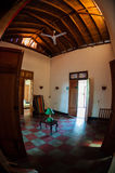 Interior of old colonial house with wood ceiling Stock Photography