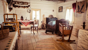 Interior of old cottage Royalty Free Stock Photos