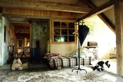 Interior of an old country house Stock Image