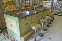 Interior of old drug store Stock Photography