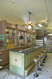 Interior of old drug store Stock Photos