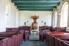 Interior old Dutch church Royalty Free Stock Images