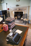 Interior of old english office. Old garden educational centre Royalty Free Stock Photos