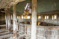 Interior of old Evangelical church - Zeliszow, Pol Royalty Free Stock Photo