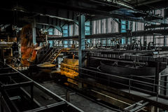 Interior of old factory, Ruhr Museum, Germany Stock Photos