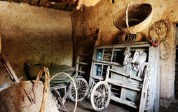 The interior of an old farmer's house. In China Royalty Free Stock Images