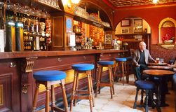Interior old-fashioned English pub Royalty Free Stock Images