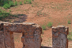 INTERIOR OF OLD FORT IN RUINS. Interior structure of old fort in ruins royalty free stock image