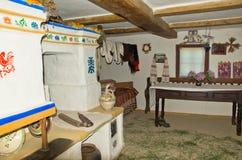 Interior of an old hut. Interior of Ukrainian old hut Royalty Free Stock Photo