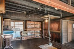Interior of old japanese house Stock Photos
