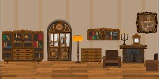 Interior old vector illustration