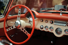 Interior old luxury car Royalty Free Stock Images