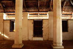 Interior of The Old Mosque of Pengkalan Kakap in Merbok, Kedah Royalty Free Stock Image
