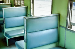 Interior of a old passenger train Stock Image