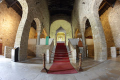 Interior of the old Pieve in San Leo, Italy Stock Photos