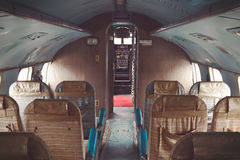 Interior of an old plane Stock Images
