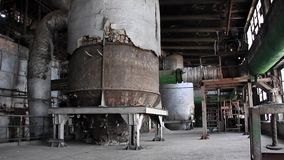 Interior of old power station stock video footage