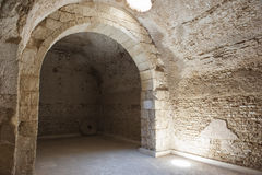 Interior of old roman cistern Royalty Free Stock Image