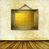 Interior of the old room with frame Royalty Free Stock Photos