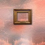 Interior of old room with wooden frames for pictures Stock Photo