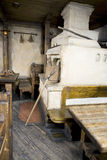 Interior of old russian home with traditional oven Royalty Free Stock Photos