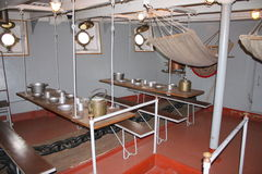 The interior of the old Russian military cruiser Royalty Free Stock Image