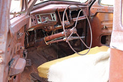 Interior of an Old rusted car Royalty Free Stock Image