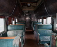 Interior Of Old Sleeping Car Stock Photos