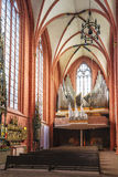 Interior of Old St Nicholas Church in Frankfurt in Germany Stock Image
