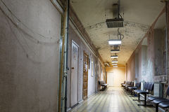 The interior of the old state clinic. Russia. Royalty Free Stock Images