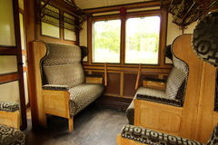 Interior of old steam train Stock Photography