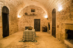 Interior of an old stone farmhouse in Puglia. Royalty Free Stock Photo