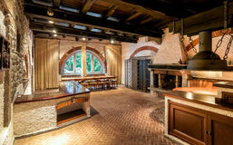 Interior of an old tavern. Royalty Free Stock Photos