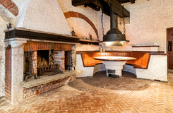 Interior of an old tavern. Stock Image