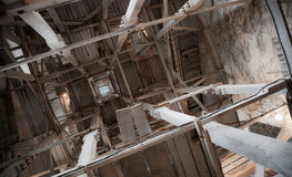 Interior of old tower. Vyborg Castle. Russia Stock Images