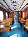 Interior of  old train carriage Stock Photography