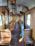 Interior of  old train carriage Royalty Free Stock Photos